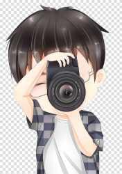 Man taking Anime Fan art Chibi Drawing Cartoon boy transparent background PNG clipart HiClipart