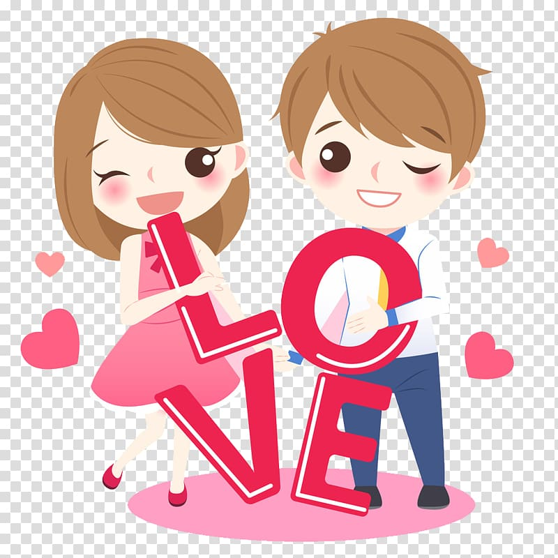 cartoon love drawing lovely