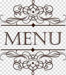 Menu Cafe Restaurant Wine list European style lace Menu logo transparent background PNG clipart HiClipart