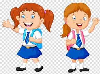 Smiling girl with backpack illustration Cartoon School school kids transparent background PNG clipart HiClipart