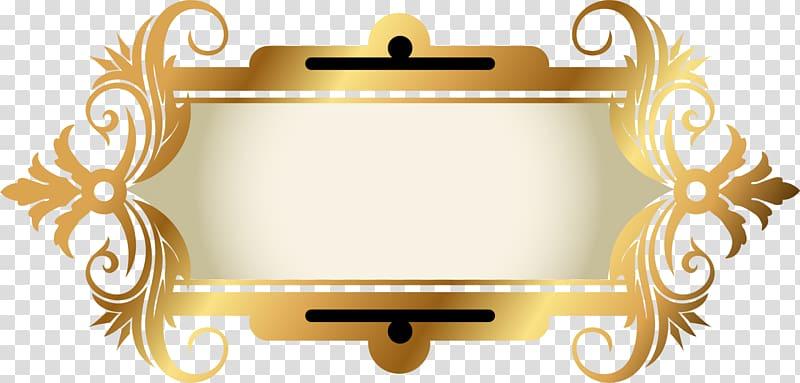 yellow border frame golden