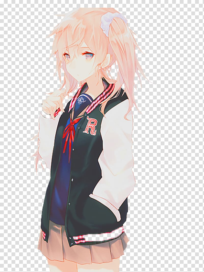 Anime Girl No Background : anime, background, Anime, Drawing, Kavaii,, Transparent, Background, Clipart, HiClipart