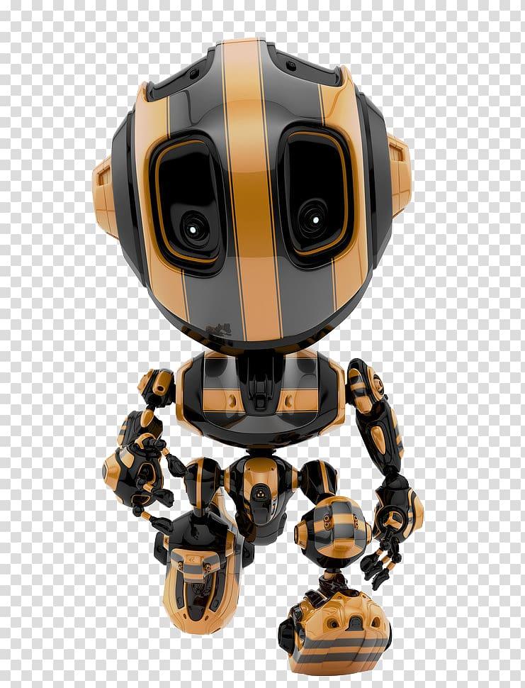orange and black robot