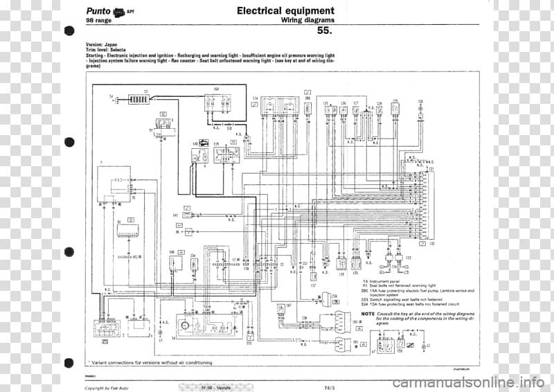 fiat punto circuit diagram