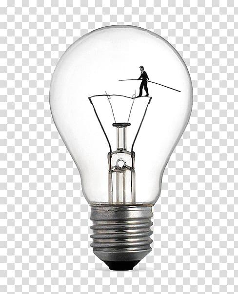 man walking inside light