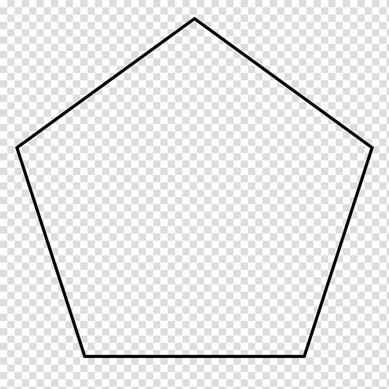 Pentagon Shape Geometry Parallelogram Coloring book, shape