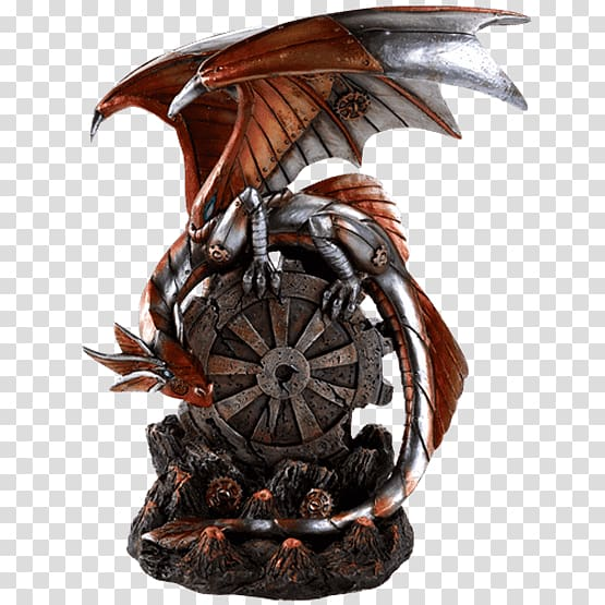 steampunk statue figurine dragon