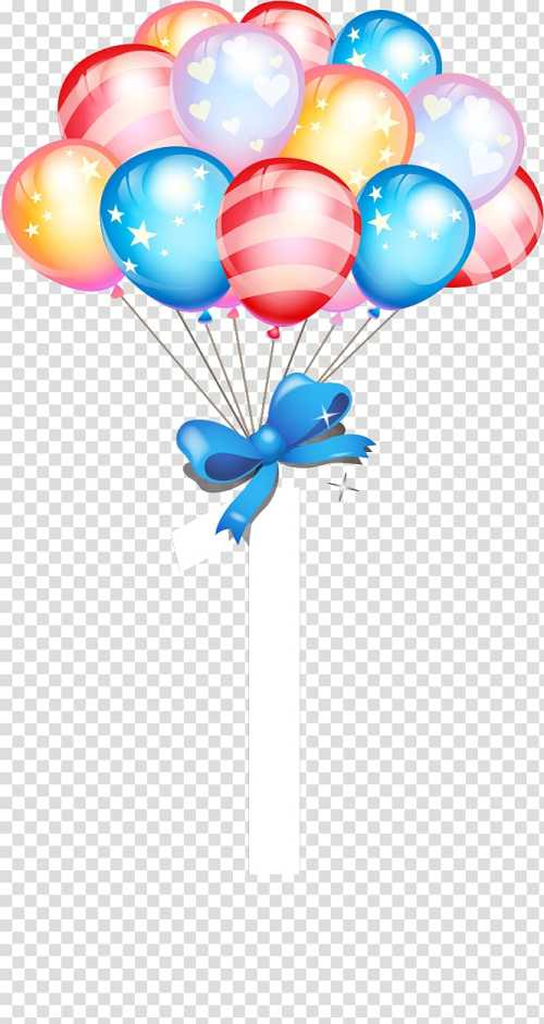 small resolution of party balloons with ribbon illustration birthday cake balloon gift birthday balloons transparent background png clipart