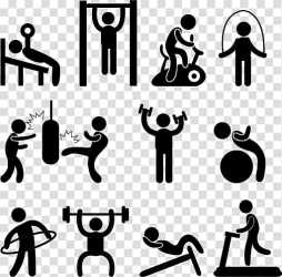 Physical exercise Fitness Centre Exercise equipment Fitness villain icon transparent background PNG clipart HiClipart