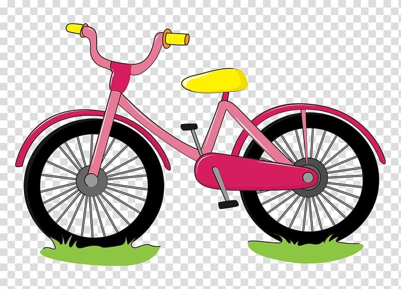 bicycle cartoon drawing watercolor