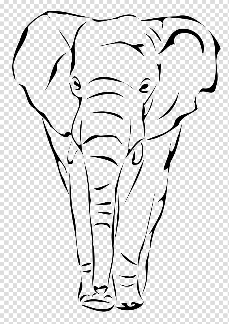 Indian Elephant Clipart : indian, elephant, clipart, Indian, Elephant, Drawing, Transparent, Background, Clipart, HiClipart