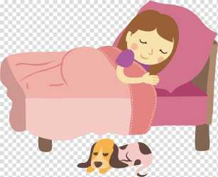 Woman sleeping on pink bed art illustration Sleep Pregnancy Girl sleeps transparent background PNG clipart HiClipart