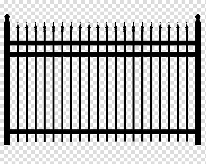 black metal fence illustration