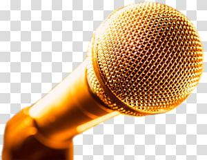 golden microphone transparent background