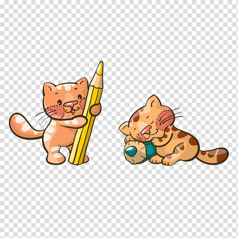 cat kitten cuteness illustration