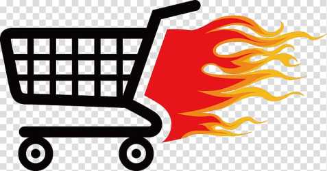 Fire and shopping cart illustration Shopping cart Icon Flame shopping cart icon transparent background PNG clipart HiClipart