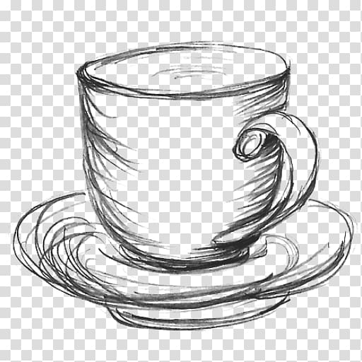 coffee cup teacup drawing