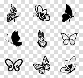 Yellow and blue butterfly illustration lot Butterfly Butterflies transparent background PNG clipart HiClipart