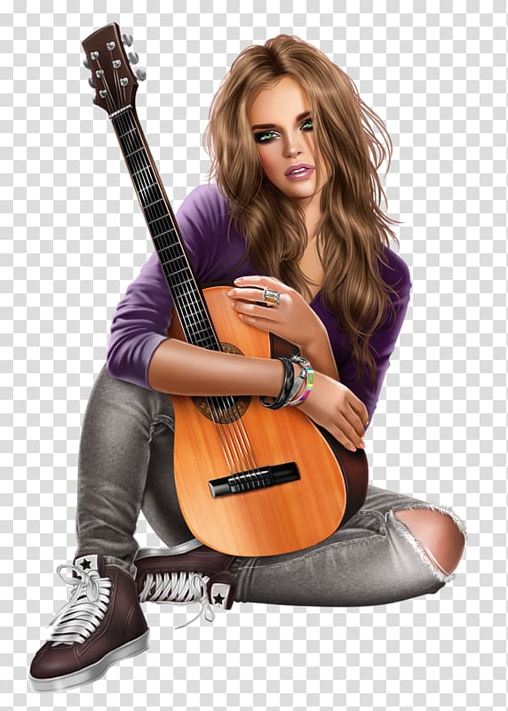 girl music woman drawing