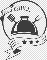 Grill logo Logo Restaurant Food Retro food labels transparent background PNG clipart HiClipart