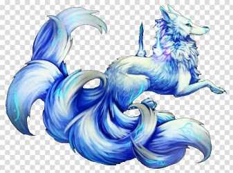 fox nine tailed wolf anime arctic snow gray iceberg most