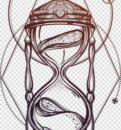 black and brown hour glass illustration drawing hourglass beautiful hand painted hourglass transparent background png clipart [ 800 x 1566 Pixel ]