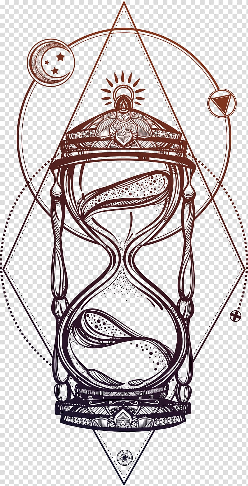 hight resolution of black and brown hour glass illustration drawing hourglass beautiful hand painted hourglass transparent background png clipart