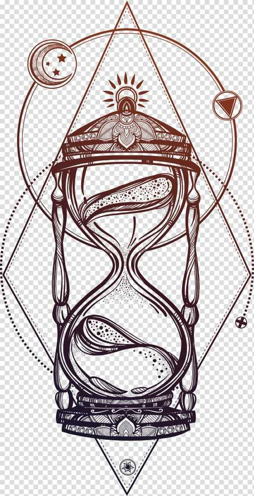 small resolution of black and brown hour glass illustration drawing hourglass beautiful hand painted hourglass transparent background png clipart