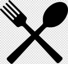 Silhouette of spoon and fork Computer Icons Eating Restaurant Fork eat transparent background PNG clipart HiClipart