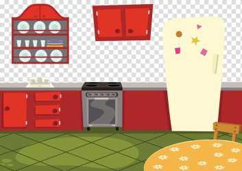 Kitchen illustration Kitchen cabinet Cartoon Cartoon kitchen transparent background PNG clipart HiClipart
