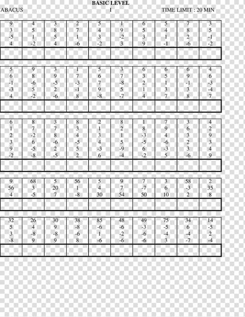 small resolution of Mental abacus Worksheet Mathematics First grade