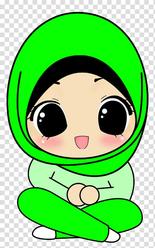 hijab cartoon drawing animation
