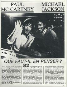Thriller Era Paul Mccartney - Michael Jackson; Faut