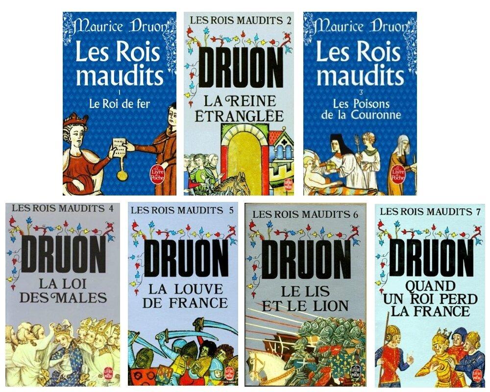 Les Rois Maudits Tome 1 A 5 De Maurice Druon Livres Et