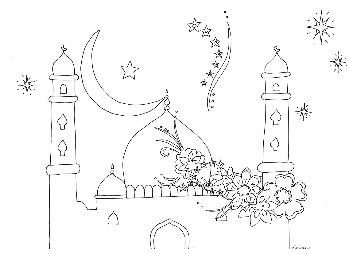 Coloriage Mosquees