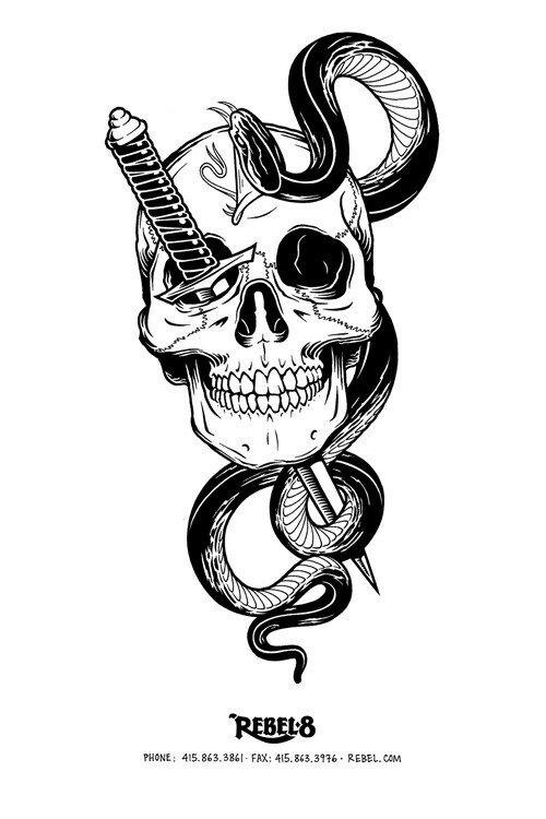 Skull tattoo design, Skull tattoos and Leon on Pinterest