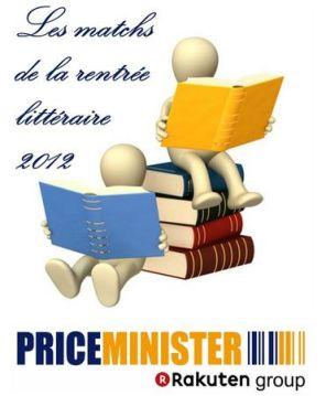 Les matchs de la rentrée littéraire 2012 sur Priceminister