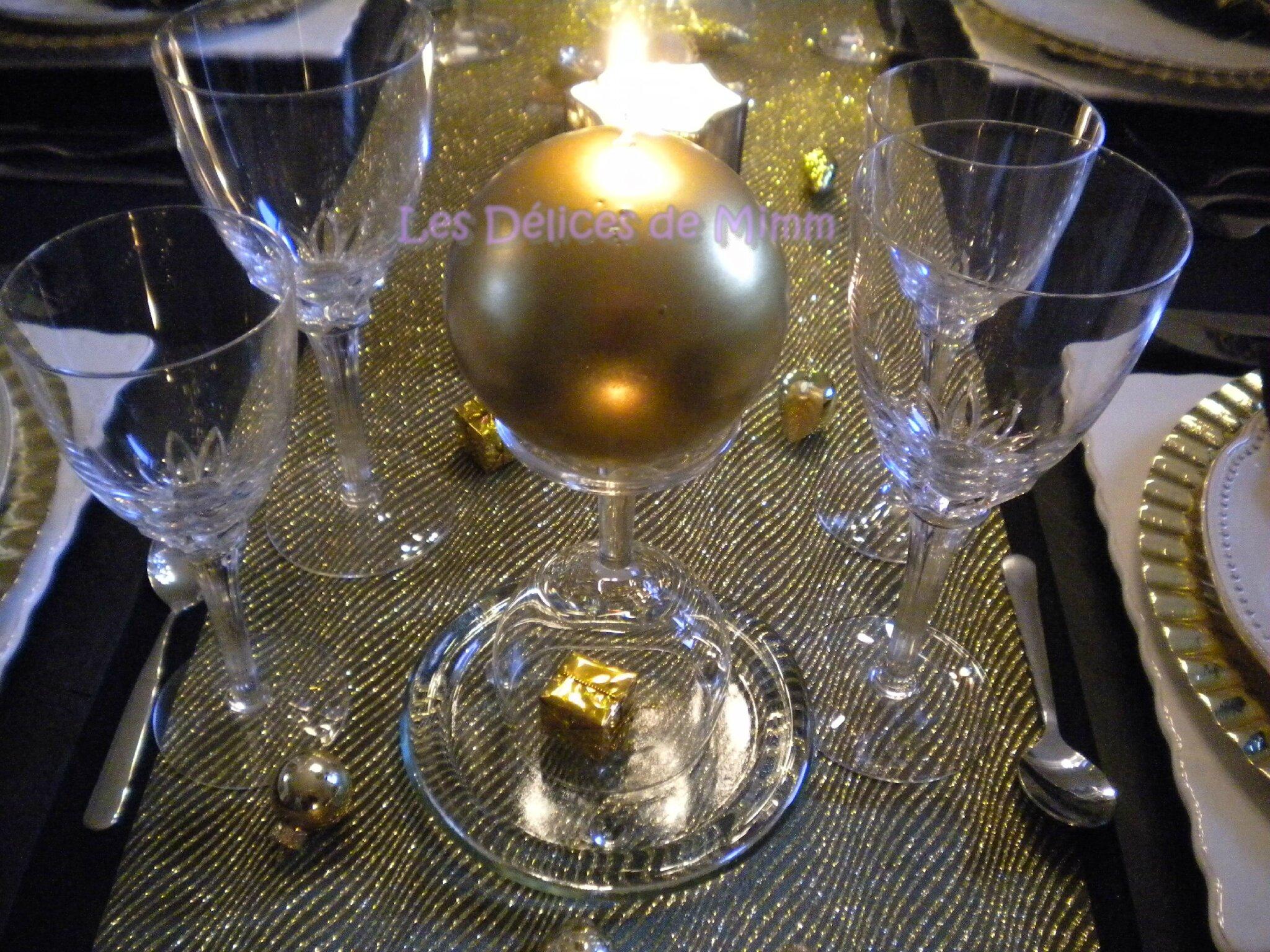 Ma Table De Rveillon Noir Et Or Les Dlices De Mimm