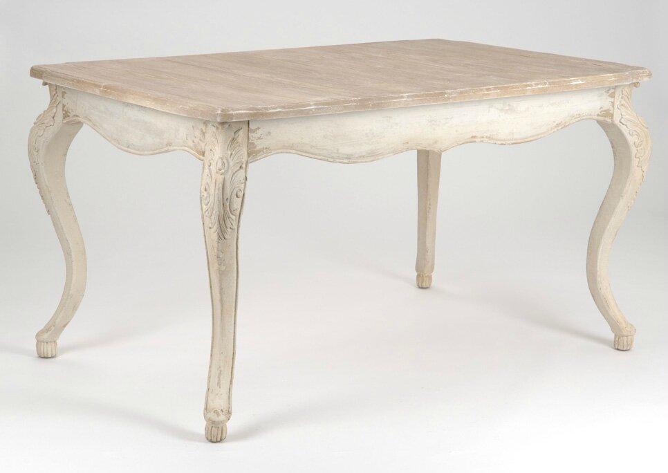 table de cuisine blanche avec rallonge