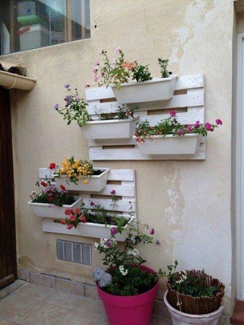 des palettes porte pots de fleur c