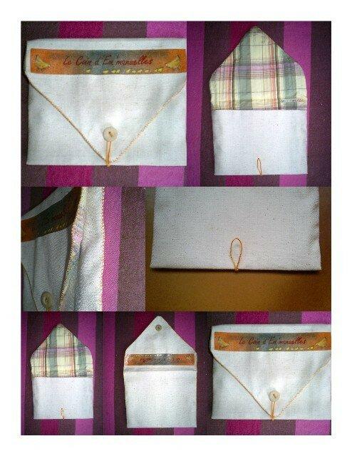 Tuto pochette enveloppe  3 Fleurs de Coton