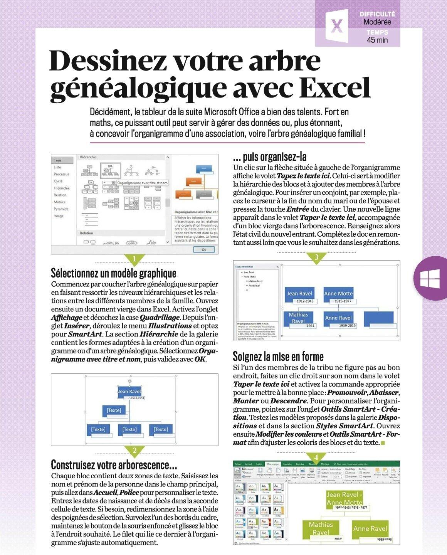 Dessinez Votre Arbre Genealogique Avec Excel