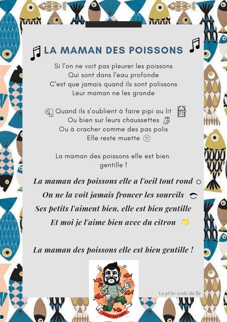 La Maman Des Poissons Boby Lapointe : maman, poissons, lapointe, Maman, Poissons, Lapointe, Classe, Moyenne, Section, Ecole, Aimé, Césaire, Nantes
