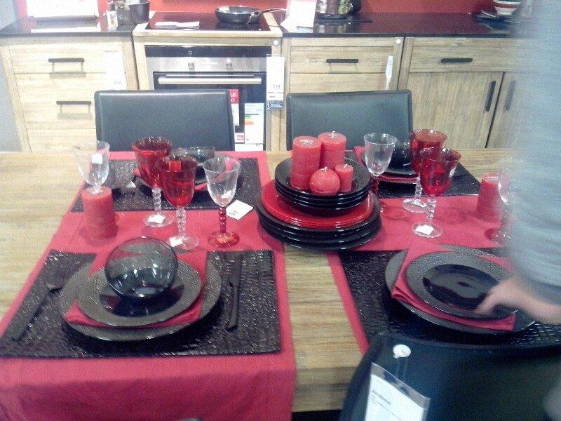Dco De Table En Rouge Et Noir La Vie D Une Love Cook