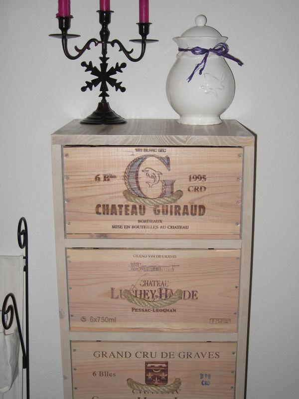 Meubles Caisses de vin  Album photos  LAtelier