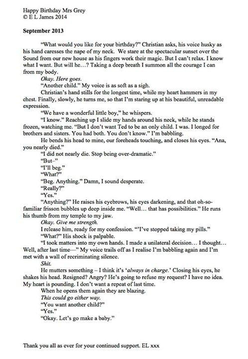 50 Nuances De Grey Extrait : nuances, extrait, Happy, Birthday, Anastasia, Steele, Chroniques, D'Evenusia