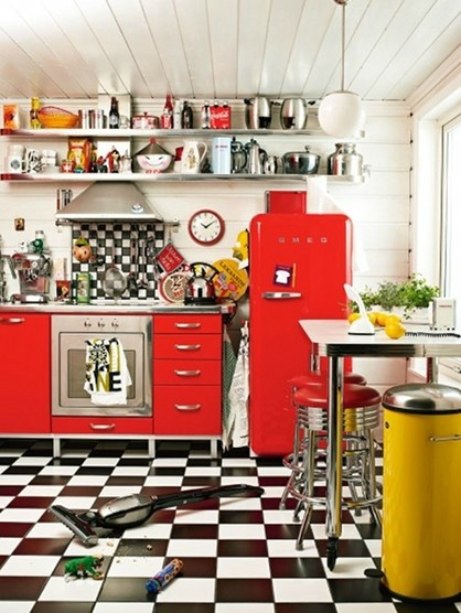 frigo smeg rouge au look vintage