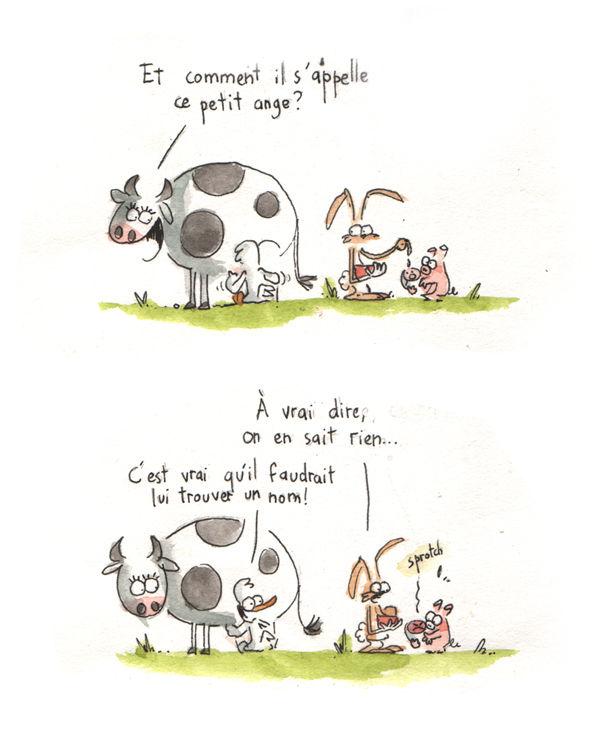Comment S Appelle Le Petit Du Cochon : comment, appelle, petit, cochon, Comment, S'appelle, Bébé?, Canard,, Cochon,, Lapin, Père, Noël