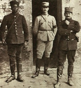 Mangin et Baba en 1916