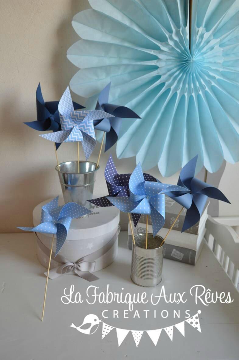 Moulins Vent Bleu Ciel Bleu Marine Bleu Orage Mariage